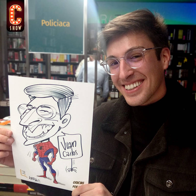 Super hero caricature