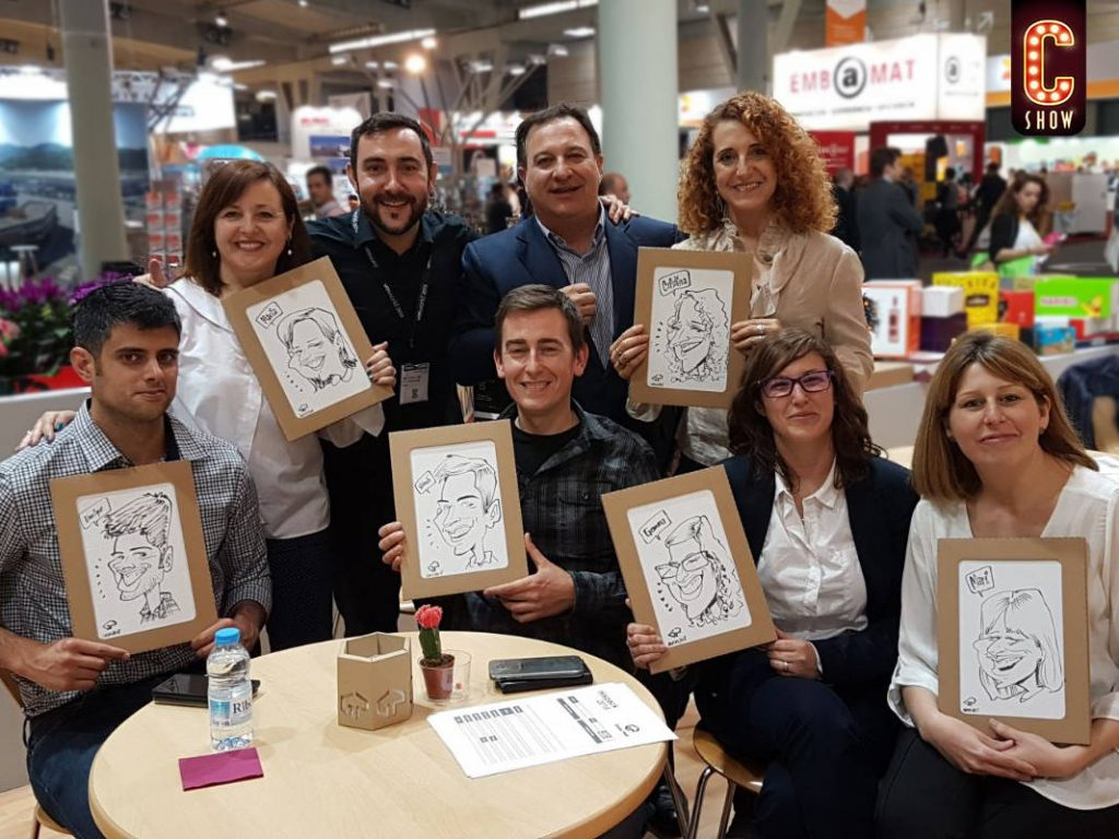 Team buiding caricatures