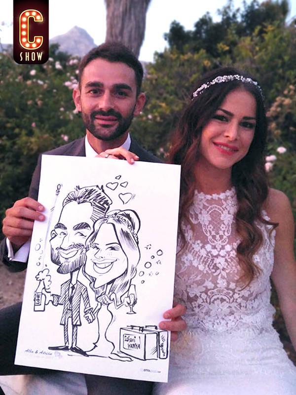 Wedding live caricature
