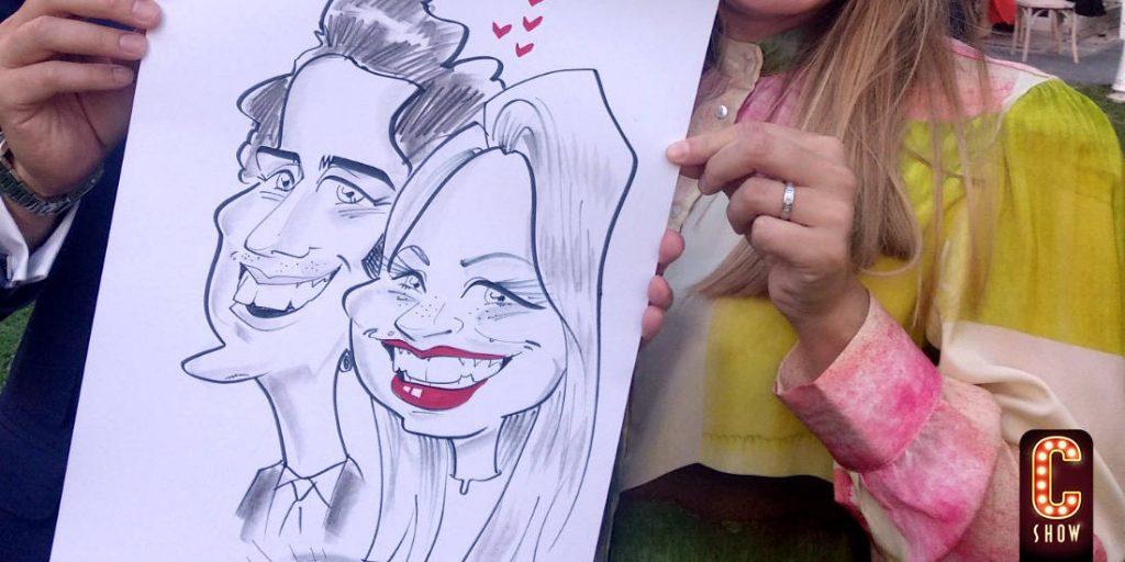 boda con entretenimiento y animación de caricatura en vivo