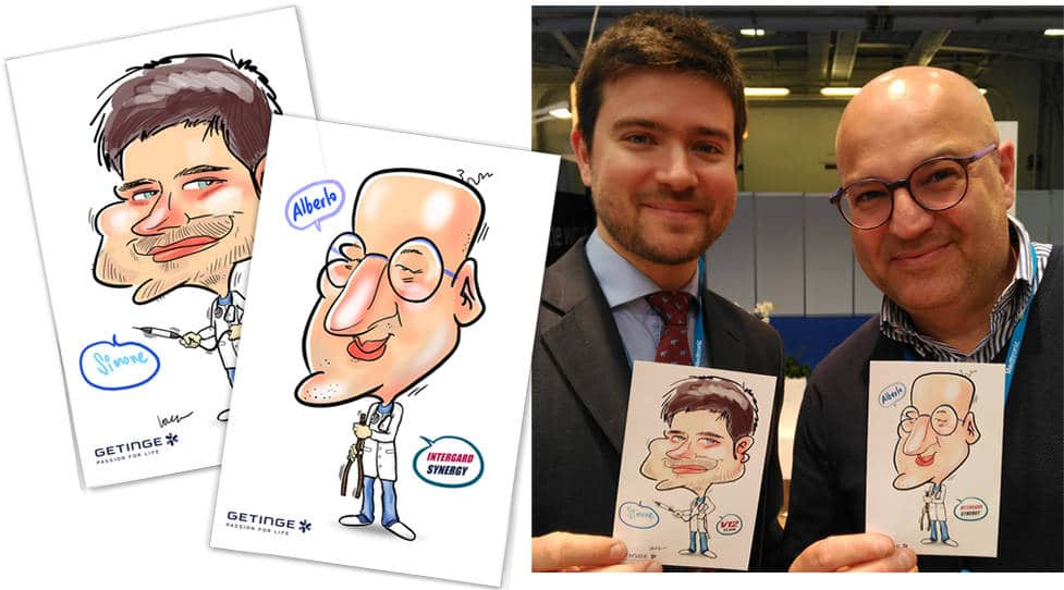 Caricatura digital en acción de marketing one to one en Barcelona