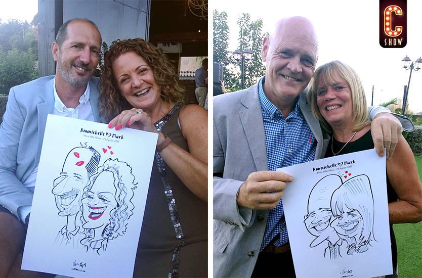 Caricaturas en vivo en boda en Sevilla