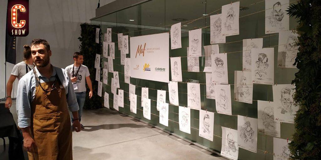 Evento de team building con caricaturas