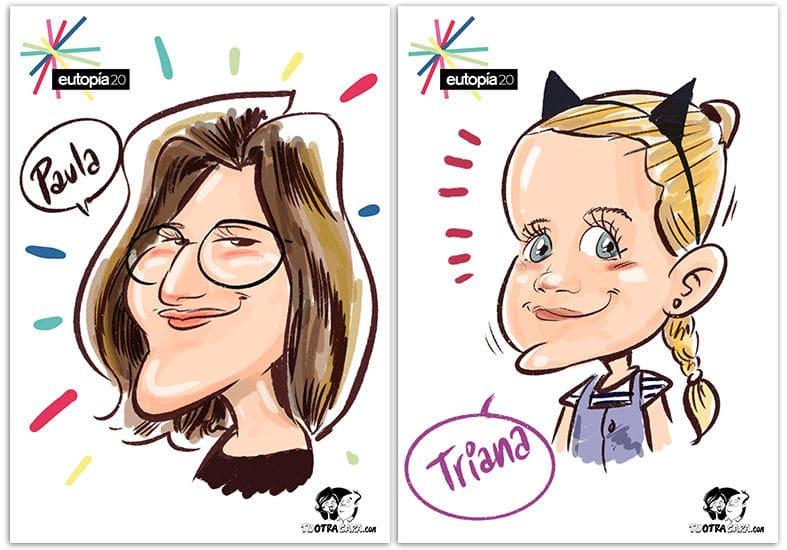 caricaturas digitales en festival en córdoba