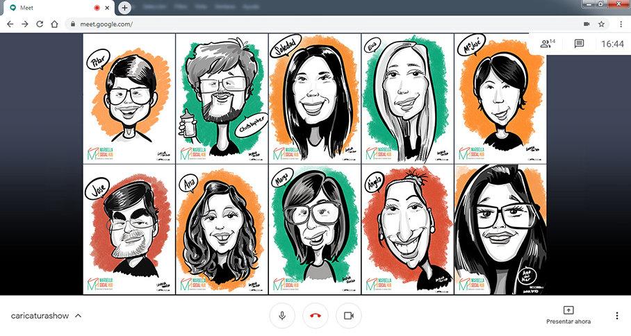 online caricatures