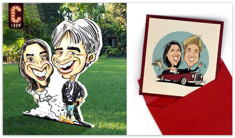 invitaciones de boda con caricaturas