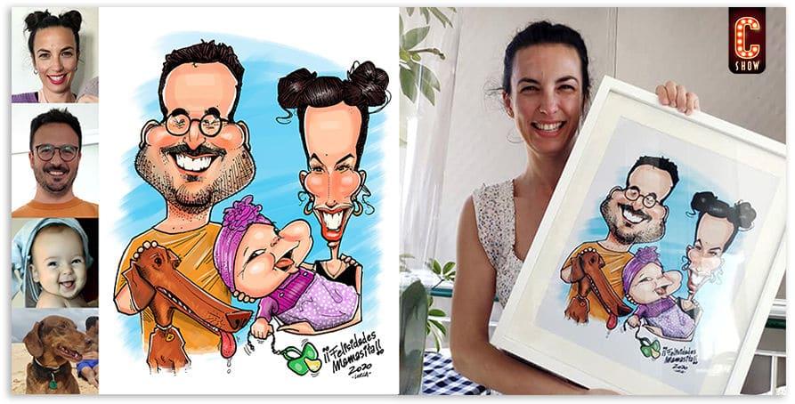 foto caricatura personalizada online