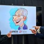 caricaturista en el bnew barcelona